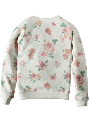 Çiçekli Sweatshirt-Asymmetry